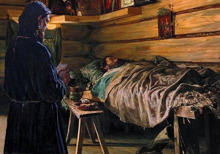 Священник у постели