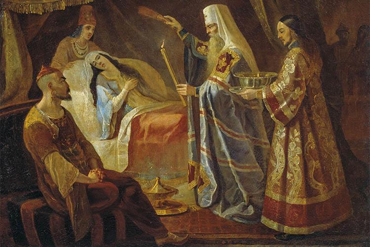 Святитель Алексий исцеляет ханшу Тайдулу