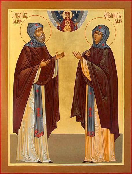 Святые Кирилл и Мария Радонежские