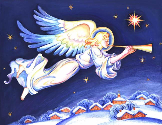 Ангел над деревней