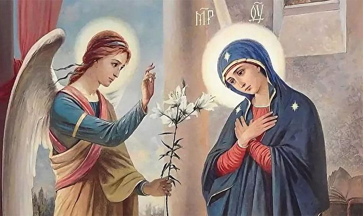 Архангел Гавриил и Пречистая Дева Мария