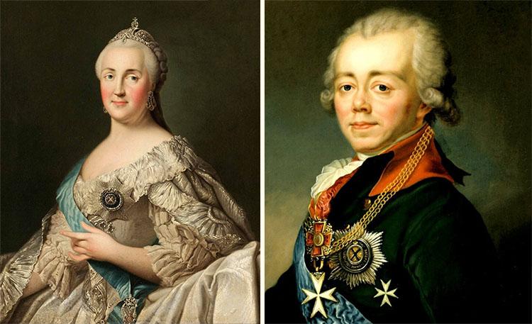 Екатерина II и Павел I
