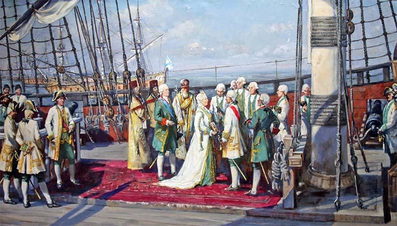 Екатерина Великая и Черноморский флот