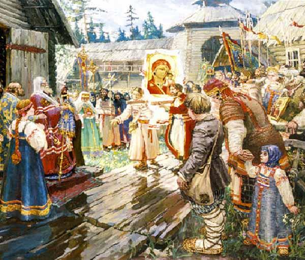 Перенесение Казанской иконы Божией Матери