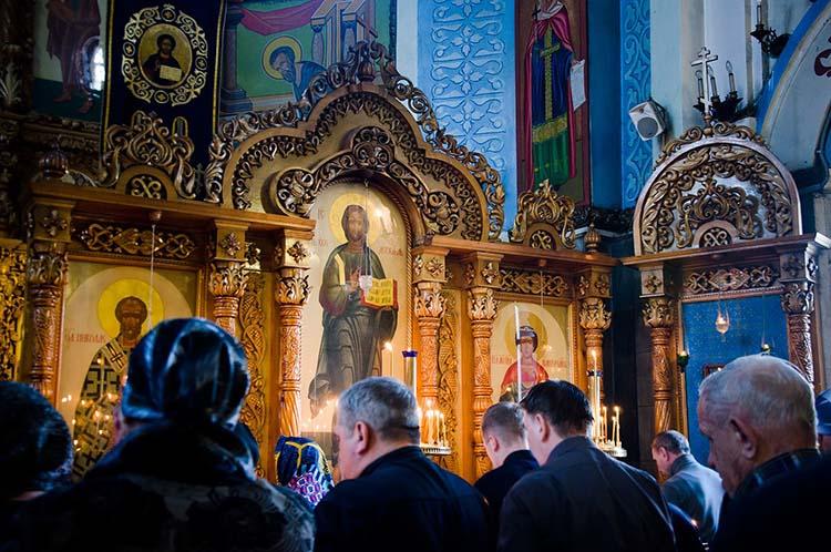 В храме на Богослужении