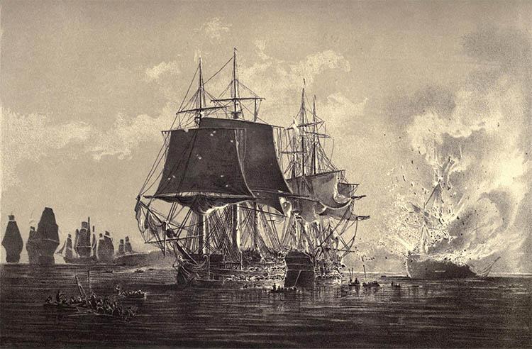 «Всеволод» после нападения британского фрегата при Палдиски