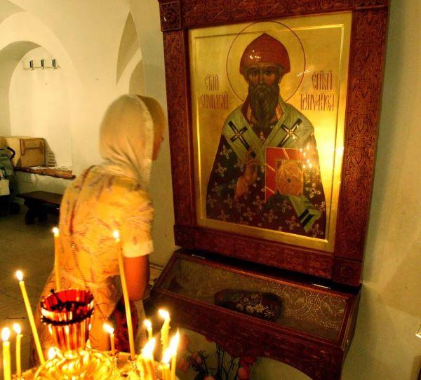 Икона и башмачок святителя Спиридона. Фот из Интернета