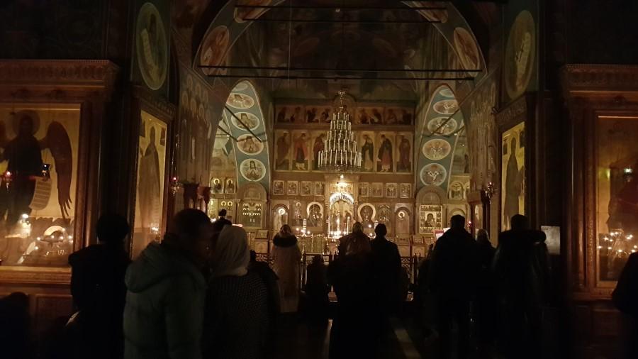 Вечерняя служба в Казанском храме