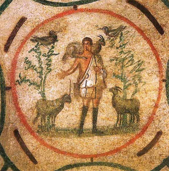 Фреска «Добрый пастырь»