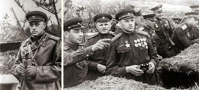 Константин Рокоссовский на передовой