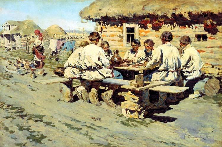 Крестьяне за столом