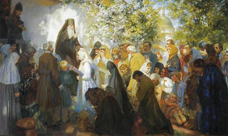 Люди у преподобного Амвросия Оптинского