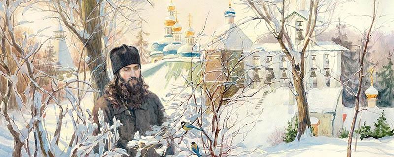 Монах зимой
