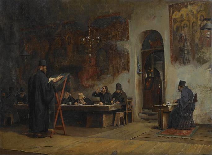 Монахи в монастыре