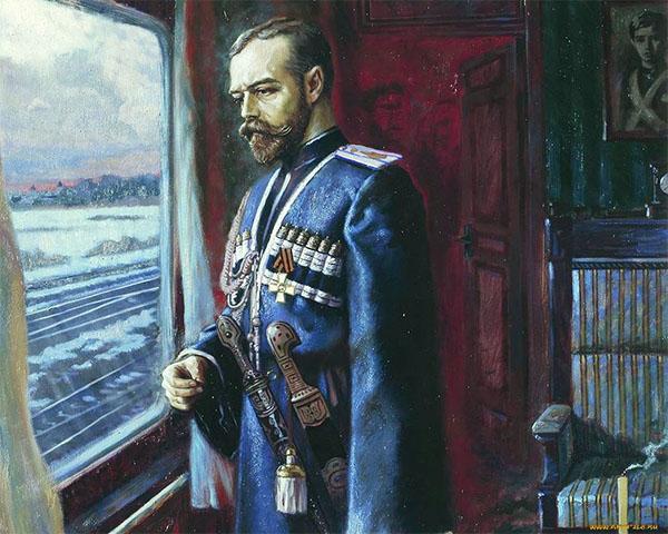 Николай II в поезде