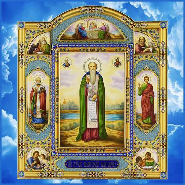 Образ преподобного Кирилла Челмогорского