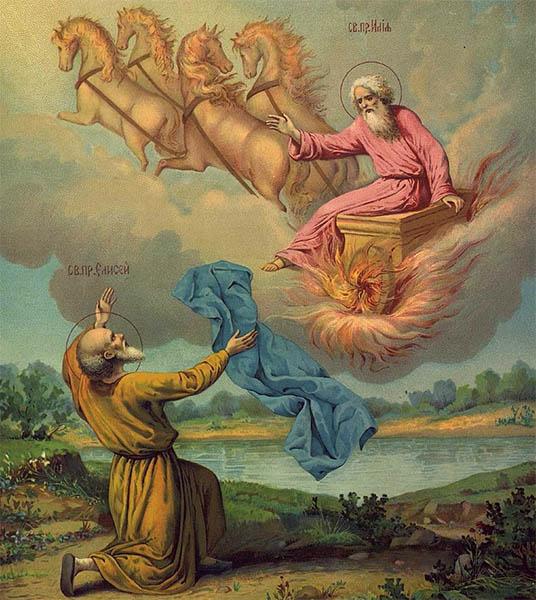 Пророк Илия и ученик его Елисей