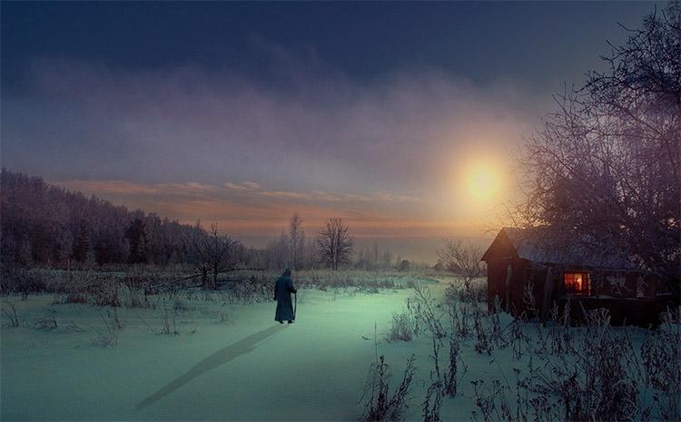 Путник зимой
