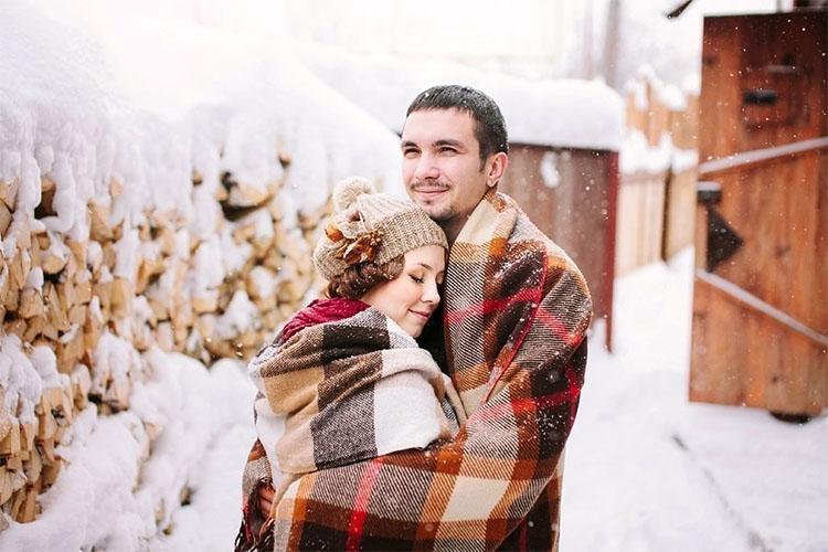 Супруги зимой