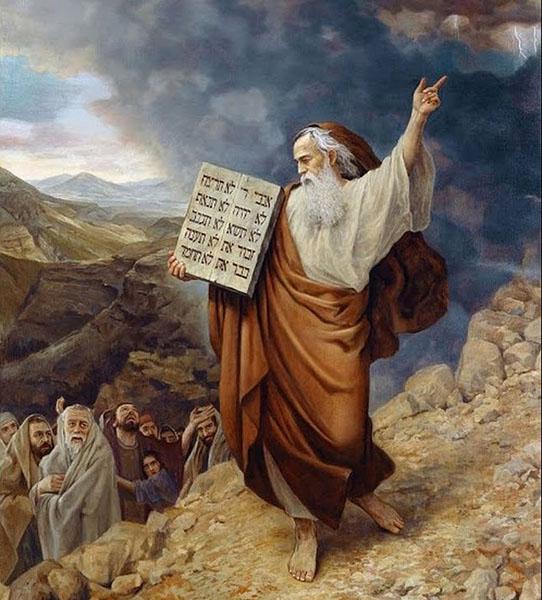 Святой пророк Моисей на горе Синай