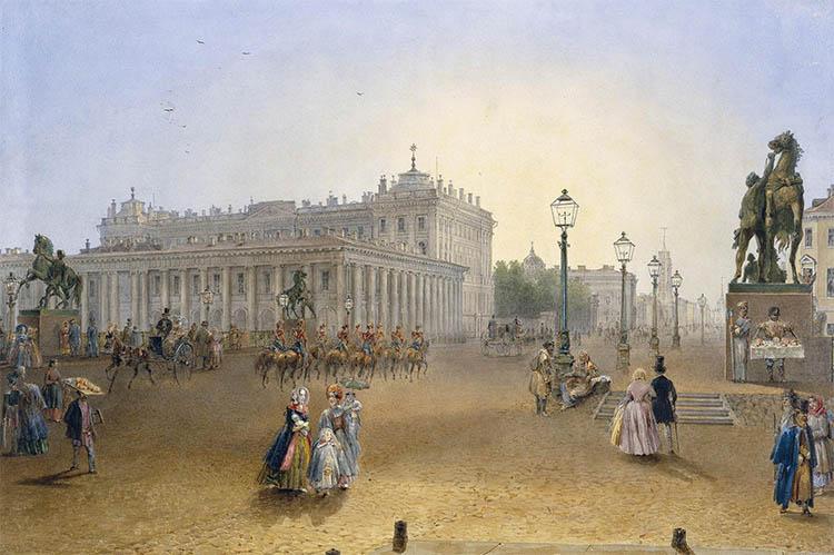 Вид Аничкова дворца