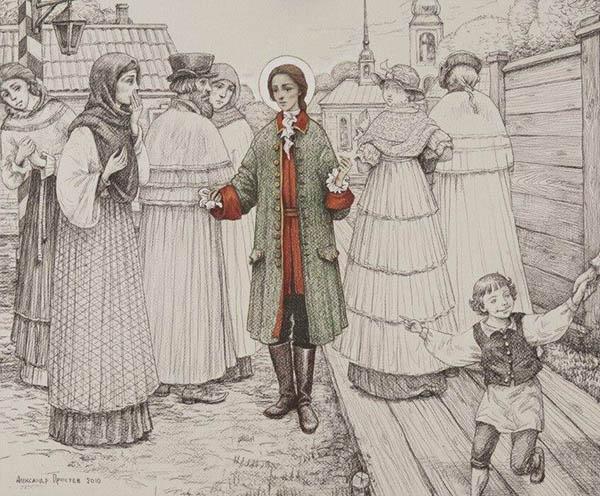 Блаженная Ксения Петербургская в мужском мундире