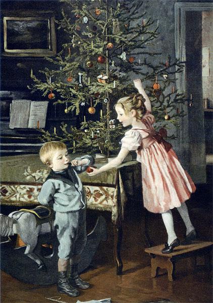 Дети у елки