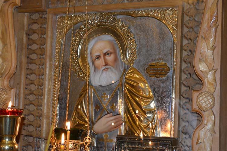 Икона Серафима Саровского в храме