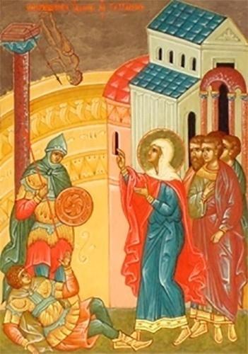 Мученица Татиана в храме Аполлона