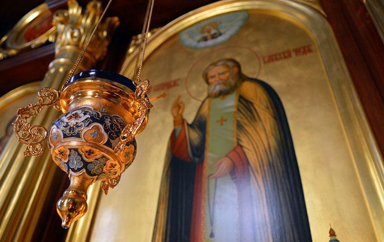 Образ преподобного Серафима Саровского в храме