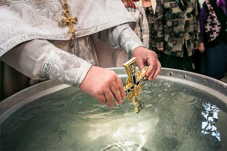 Освящение воды на Крещение