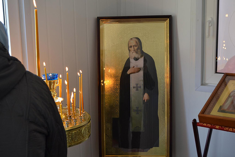 Перед иконой преподобного батюшки Серафима