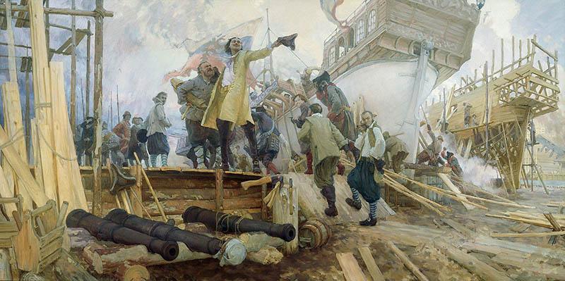 Петр I и строительство флота