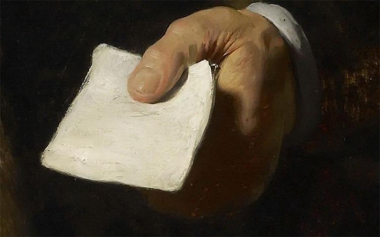 Письмо в руке