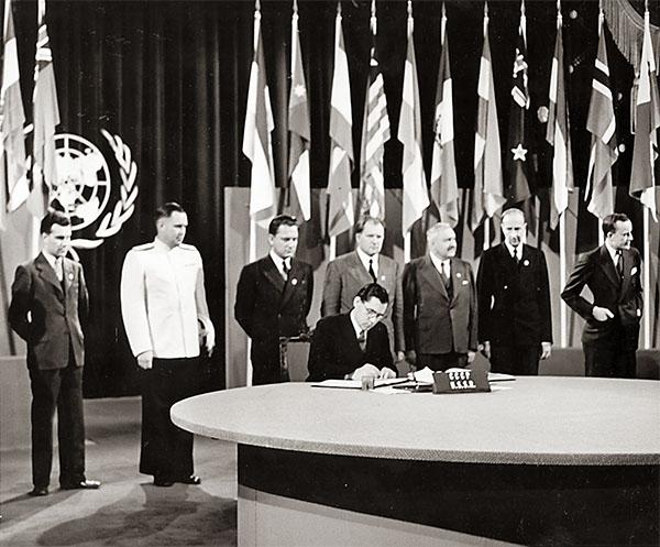 Подписание устава Организации Объединенных Наций