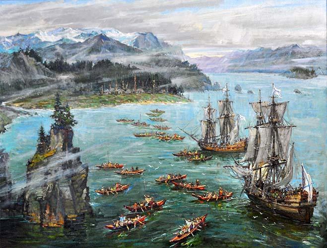 Русские корабли у берегов Аляски