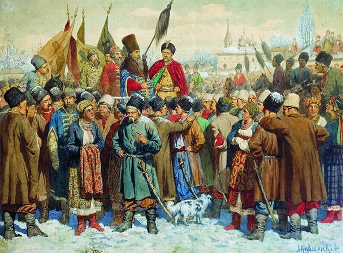 Совет запорожского казачества в Переяславе