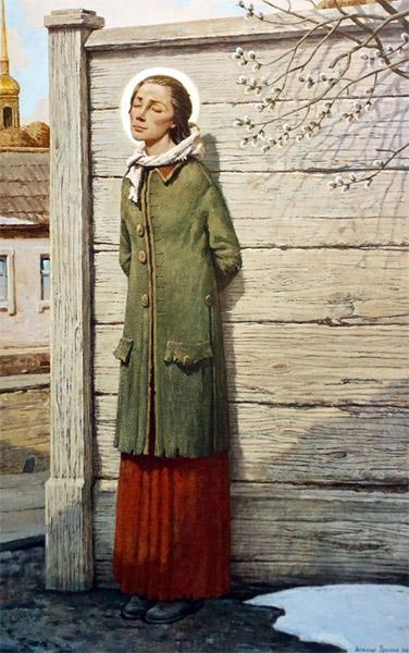 Святая блаженная Ксения Петербургская на улицах Петербурга