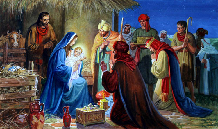 Волхвы приносящие дары