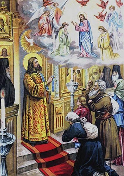 Явление Господа Серафиму Саровскому