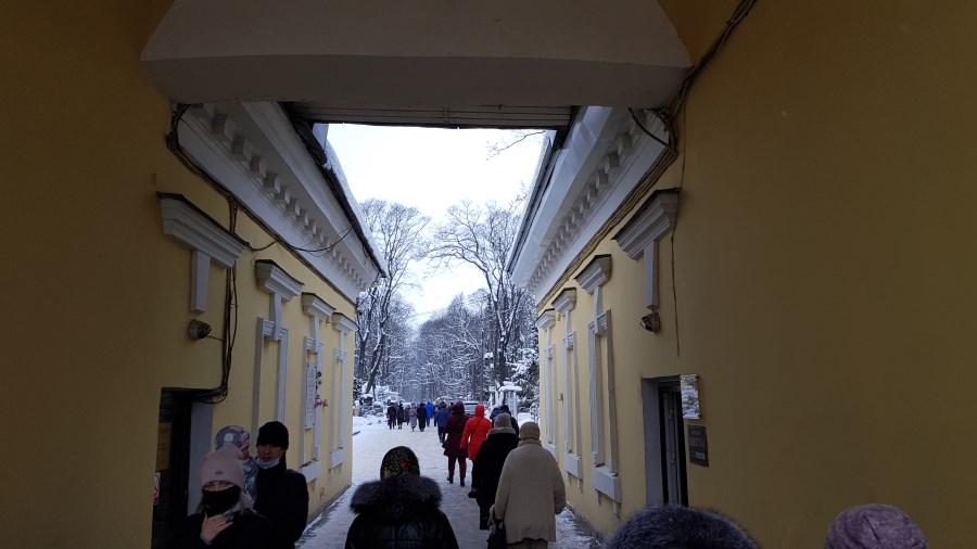 Вход на территорию Смоленского кладбища