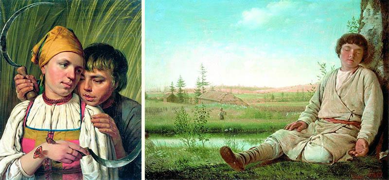 А. Г. Венецианов. «Жнецы», «Спящий пастушок»