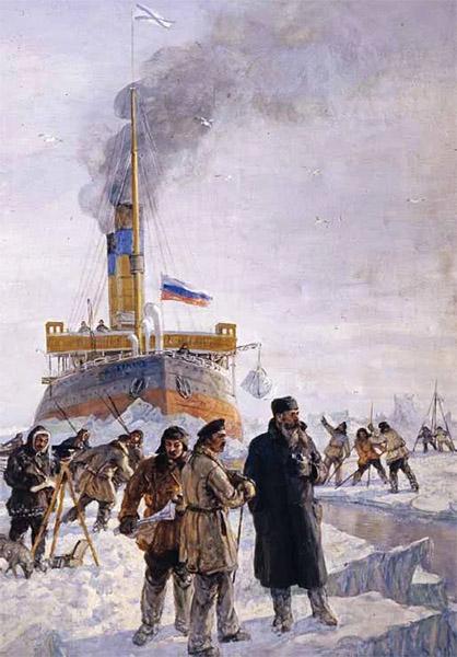 Адмирал Макаров и ледокол «Ермак»
