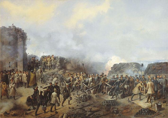 Бой на Малаховом кургане в Севастополе