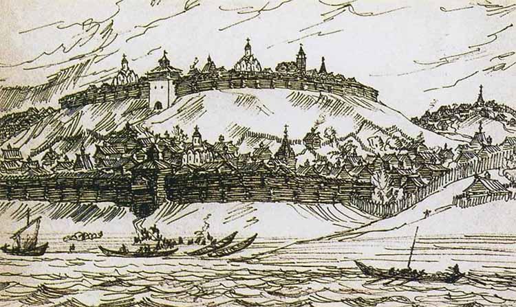 Деревянный Нижегородский Кремль