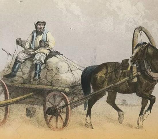 Едет на лошади