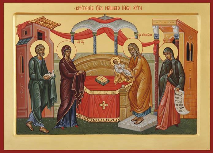 Икона Сретение Господа нашего Иисуса Христа