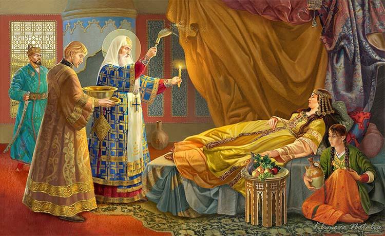 Исцеление Тайдулы митрополитом Алексием