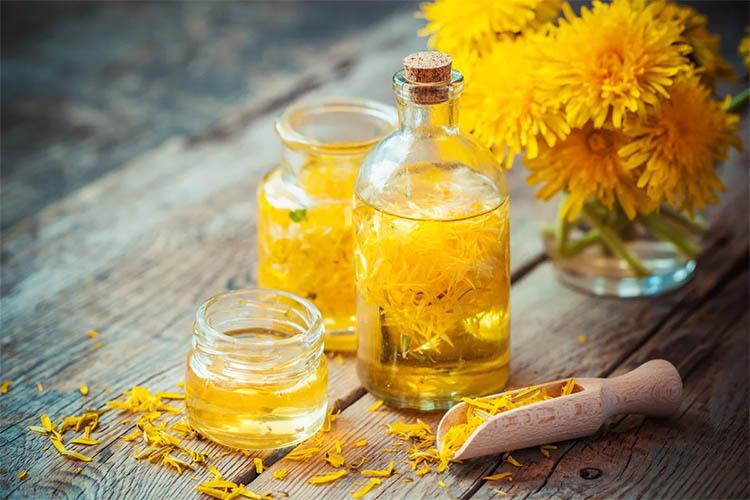Льняное масло с соком из одуванчика