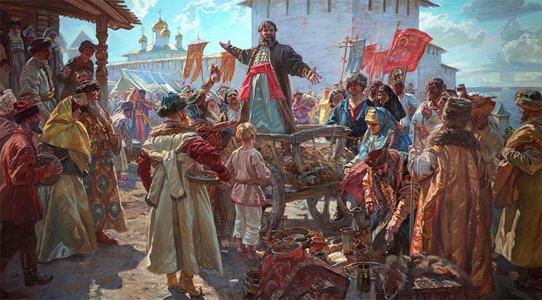 Минин на площади Нижнего Новгорода